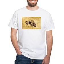 Buffalo sepia Ink Drawing Shirt