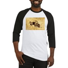 Buffalo Sepia Ink Drawing Baseball Jersey