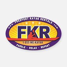 FKR Color Oval Logo Oval Car Magnet