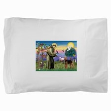 St Francis / Airedale Pillow Sham