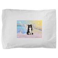 Border Collie Angel Pillow Sham