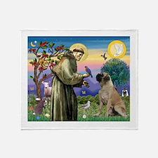 Saint Francis / Bullmastiff Throw Blanket