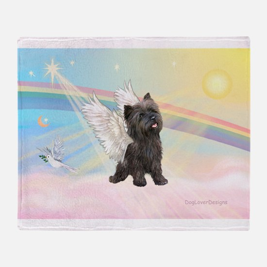 Angel / Cairn Terrier (brin) Throw Blanket
