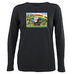 Rainbow Bright / Dachshund (w Plus Size Long Sleev