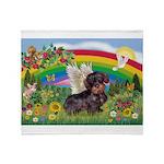 Rainbow Bright / Dachshund (w Throw Blanket