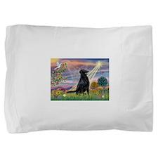 Cloud Angel / Flat-Coated Ret Pillow Sham