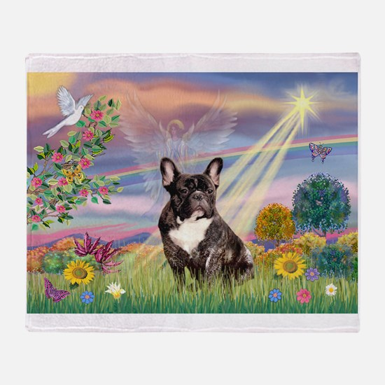 Cloud Angel / Fr Bulldog (bri Throw Blanket