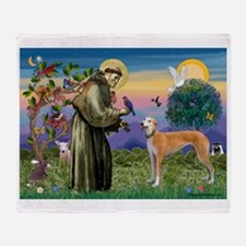 St Francis / Greyhound (f) Throw Blanket
