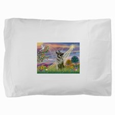 Cloud Angel Elkhound Pillow Sham