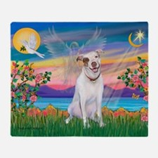 Guardian Angel / Pit Bull Throw Blanket