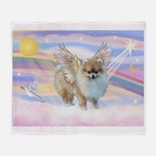Pomeranian / Angl (s&w) Throw Blanket