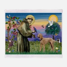St Francis / Poodle Std (a) Throw Blanket