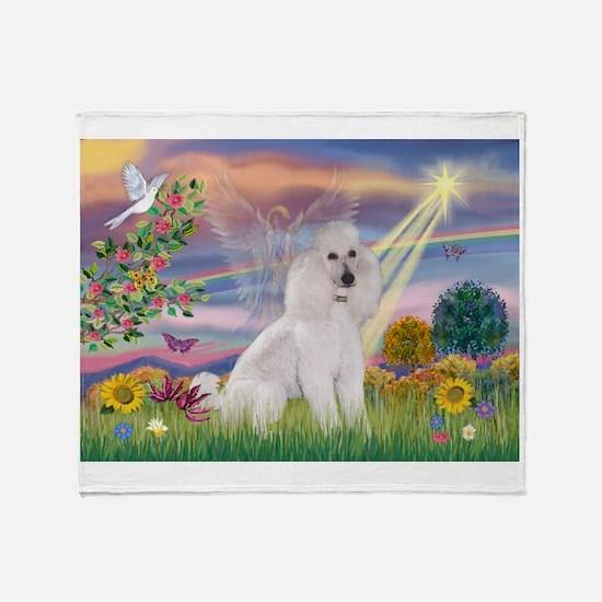 Cloud Angel /Poodle std (w) Throw Blanket