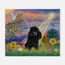 Cloud Angel / Poodle (blk#2) Throw Blanket