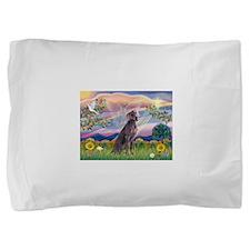 Cloud Angel / Weimaraner Pillow Sham