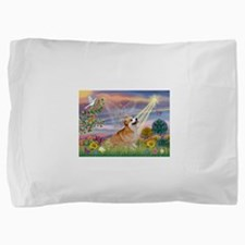 Cloud Angel Welsh Corgi Pillow Sham