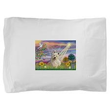 Cloud Angel & Westie Pillow Sham