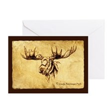 Moose Sepia Ink Drawing Greeting Cards (6)