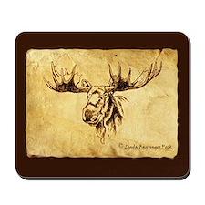 Moose Sepia Ink Drawing Mousepad