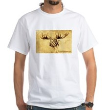 Moose Sepia Ink Drawing Shirt