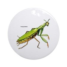 Praying Mantis Insect Ornament (Round)