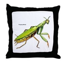 Praying Mantis Insect Throw Pillow