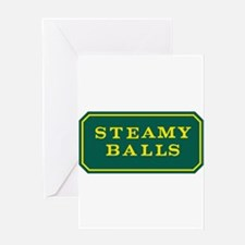 STEAMY BALLS! Greeting Cards