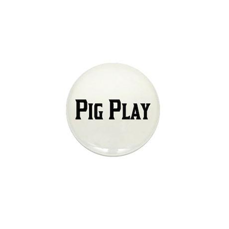 PIG PLAY/BLACK TEXT Mini Button