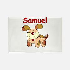 Samuel Puppy Rectangle Magnet