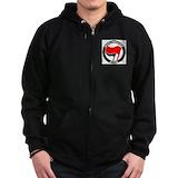 Antifa Zip Hoodie (dark)