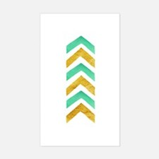 Mint and Gold Foil Decal