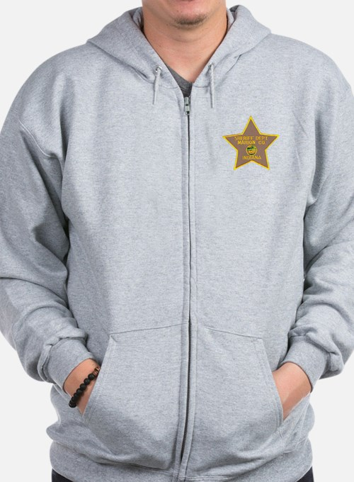 Cute Sheriffs office Zip Hoodie