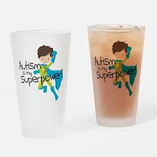 Autism Superpower Drinking Glass