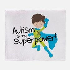 Autism Superpower Throw Blanket