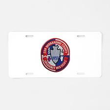 San Bernardino County EMT Aluminum License Plate