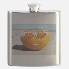 Beach Orange Flask