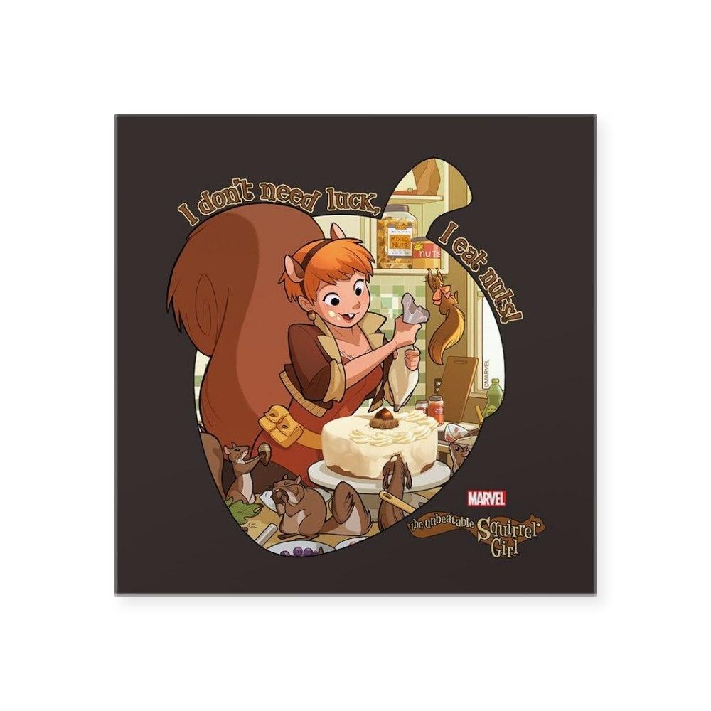 1765222214 CafePress Squirrel Girl Nuts Square Sticker 3 X 3 Square Sticker