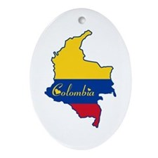 Cool Colombia Oval Ornament