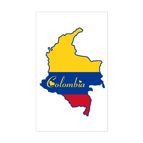 Cool Colombia Rectangle Sticker