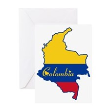 Cool Colombia Greeting Card