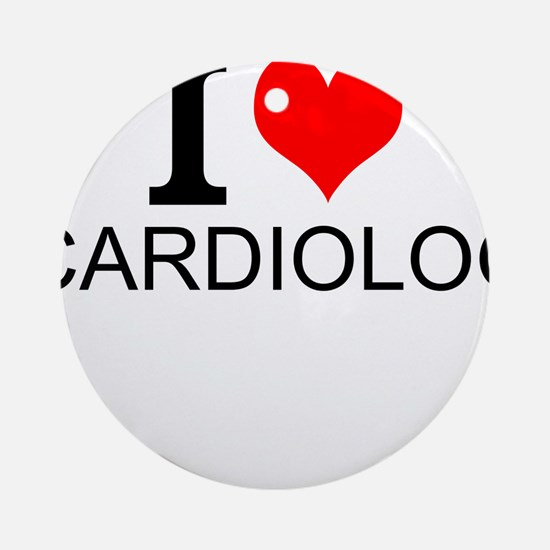 I Love Cardiology Round Ornament