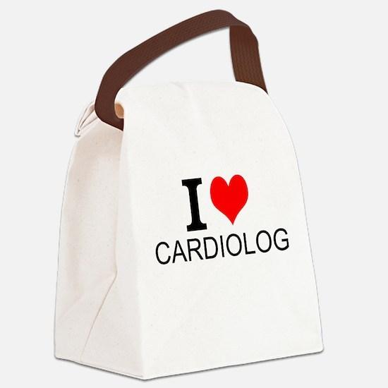 I Love Cardiology Canvas Lunch Bag