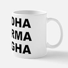 Buddha Dharma Sangha Small White Mug Mugs