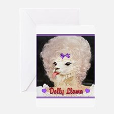 Dolly Llama Greeting Cards