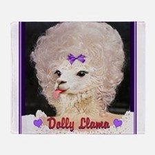 Dolly Llama Throw Blanket
