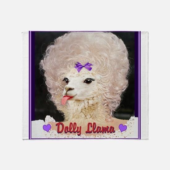 Dolly Llama Throw Blanket