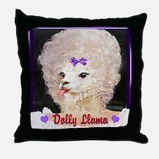 Dolly Llama Throw Pillow