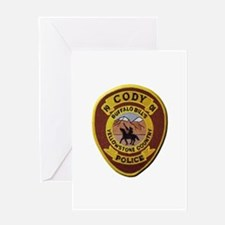 Cody Wyoming Police Greeting Cards