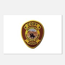 Cody Wyoming Police Postcards (Package of 8)