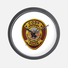 Cody Wyoming Police Wall Clock